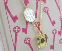 mothers day - custom book necklace