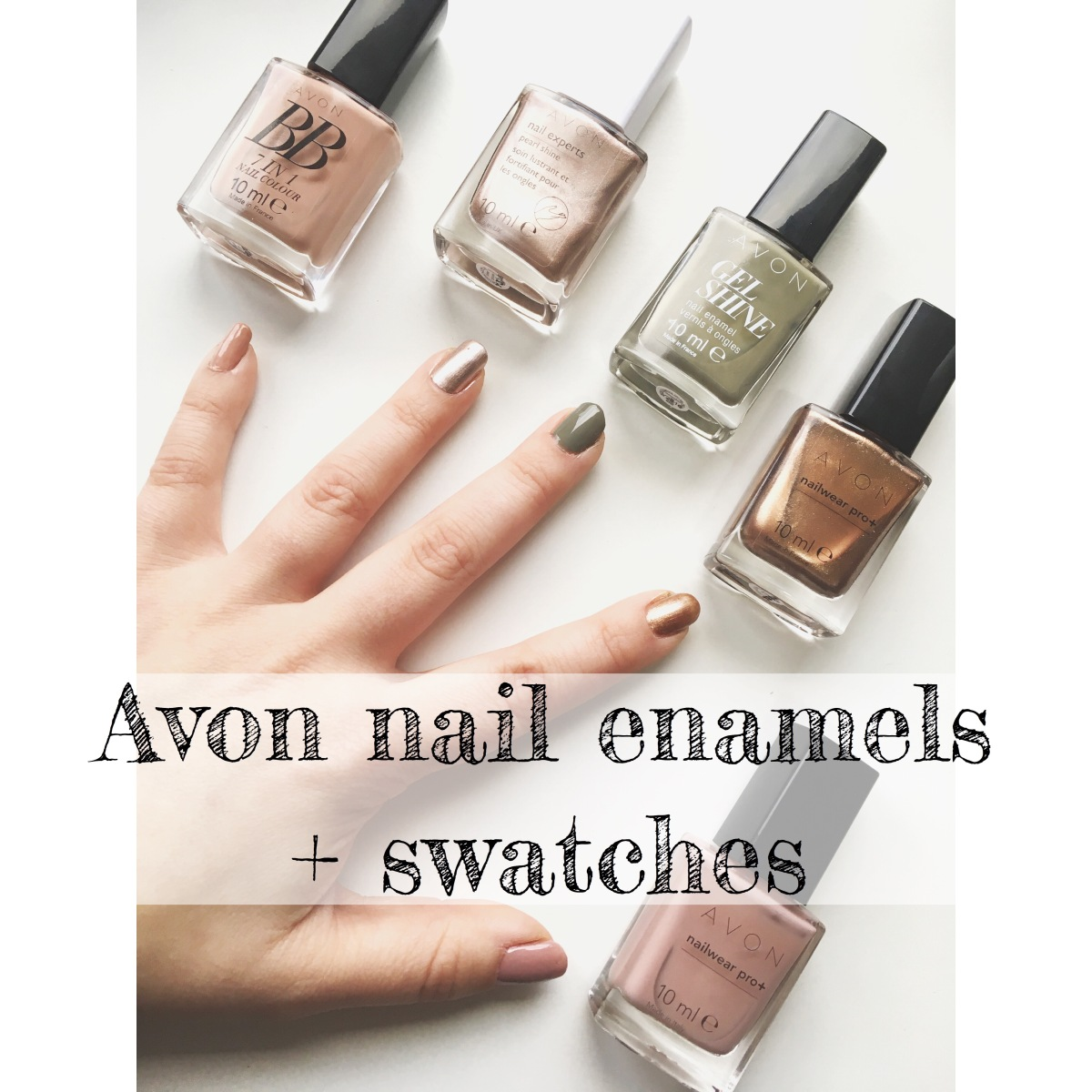 Avon nail enamel - NailWear Pro+ / Gel Shine / Liquid freeze dry nail spray and more! (plus swatches)